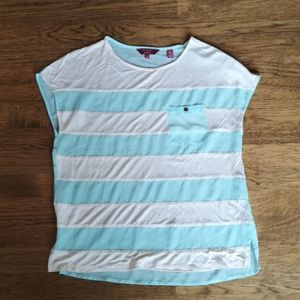 Ted Baker Blue Off-White Striped Sheer Shirt 2